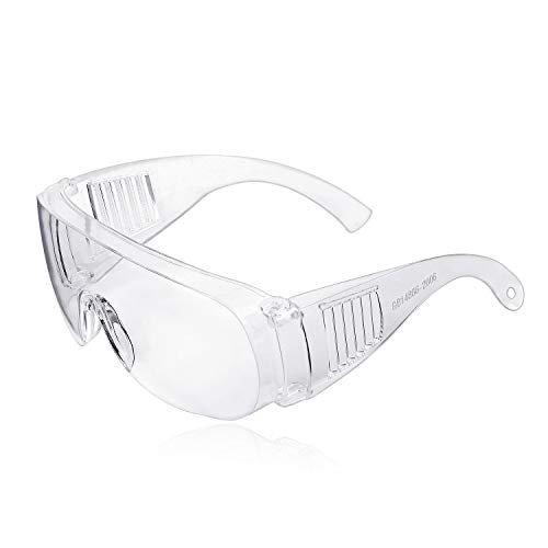 Occhiali protettivi, ZHIKE Clear Occhiali antiappannamento e antigraffio per lavoro e sport, uomini, donne (2 pezzi)