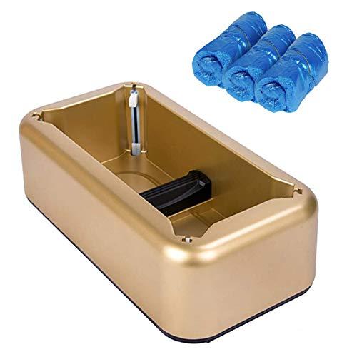 Portatile Distributore di Copriscarpe per Copriscarpe T-Clips Oro- Con 30 Pieces Copriscarpe