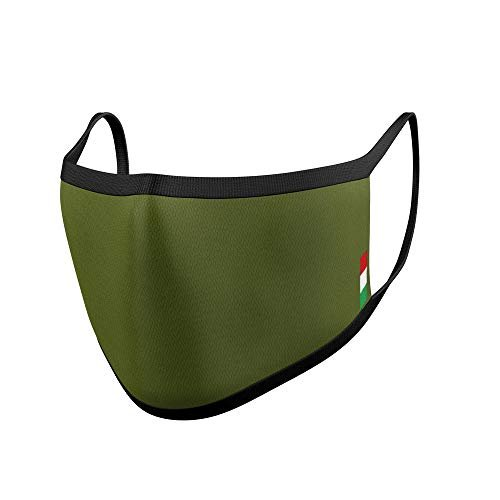 Relaxsan UNIMA [Verde Caccia] – Mascherina di cortesia Luxury ultra leggera e traspirante filato Dryarn e argento X-Static