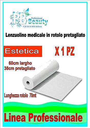 Renna Rotolo Carta Lettino Lenzuolino, Multicolore, 60 cm x 70 M