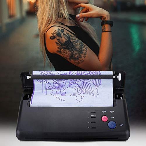 S SMAUTOP Trasferimento del tatuaggio Macchina, Tatuaggio trasferimento fotocopiatrice macchina stampante termica Tattoo Macchina con 10 pezzi carta a trasferimento termico, per tatuaggi fai da te