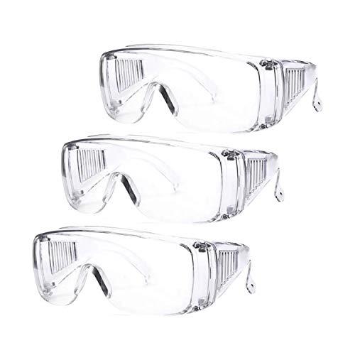 SCL Occhiali di Sicurezza [3 pezzi] Anti-graffio Anti-appannamento Occhiali Protettivi e Igienici di Sicurezza
