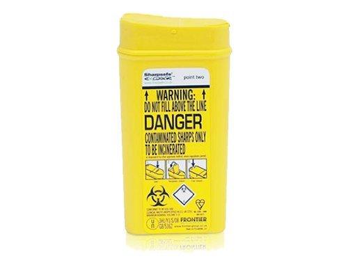 Sharpsafe, contenitore per rifiuti taglienti, 0,2l
