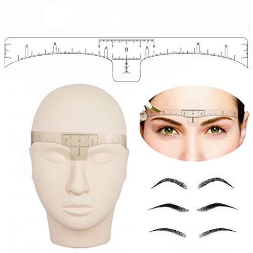 Skymore sopracciglio Righello, 100pcs monouso sopracciglio Righello Sticker, Adesivo Microblading Righello Guida per Makeup Tool