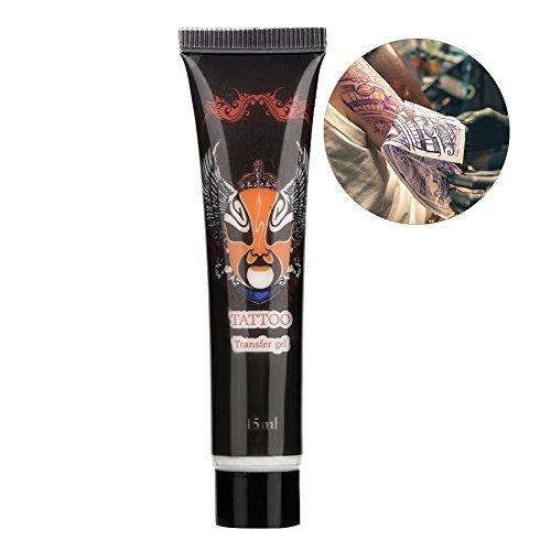 Tattoo Transfer Gel, Tattoo Stencil Transfer Solution Gel Cream Body Art Accessori Formula di trasferimento duratura e delicata per la pelle(15 ml)