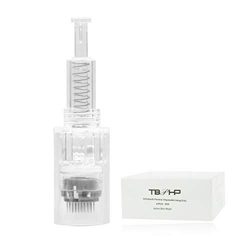 TBPHP 10pcs 42 aghi micro needling Derma Pen Needles di ricambio punte Cartuccia Slot Threaded per Auto Derma Electric Rosa Argento Pen