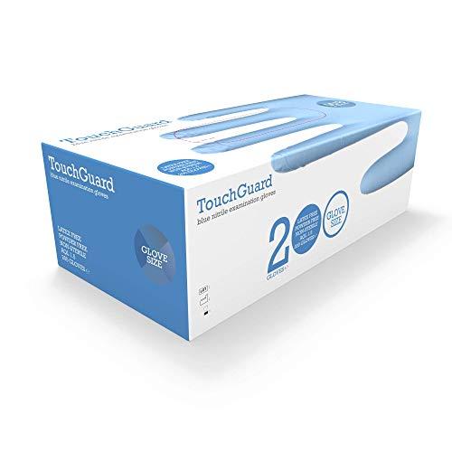 TouchGuard, guanti monouso in nitrile, blu, senza lattice e senza talco, confezione da 200, taglia L