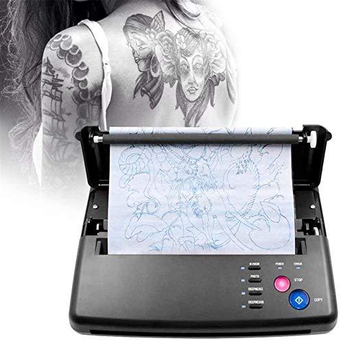 TTLIFE Tattoo Transfer Machine Stampante Termica Tattoo A5 A4 Con 10 Pezzi Di Carta a Trasferimento Termico e 500 Modelli Digitali Per Forniture Per Tatuaggi Fai Da Te