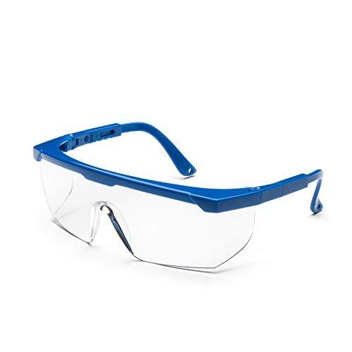 Univet 511.03.01.00H - Occhiali protettivi/sovraocchiali, con lente clear e rivestimento antigraffio, Per volti piccoli
