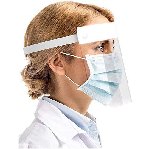 Visiera Protettiva Trasparente Certificata, Maschera Protettiva Viso, Schermo Facciale Protettivo Sanitario Comodo E Confortevole Utilizzabile Con Occhiali E Mascherina, Face Shield Mask