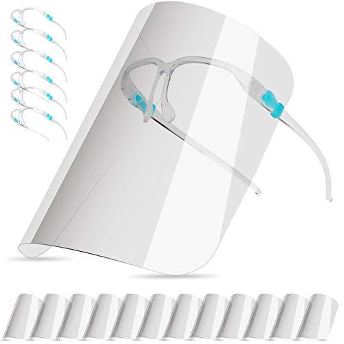 Visiera Protettivo per Adulti e Studenti, Face_Shield (con 12 schermi antiappannamento sostituibili e pulibili e 6 occhiali riutilizzabili)