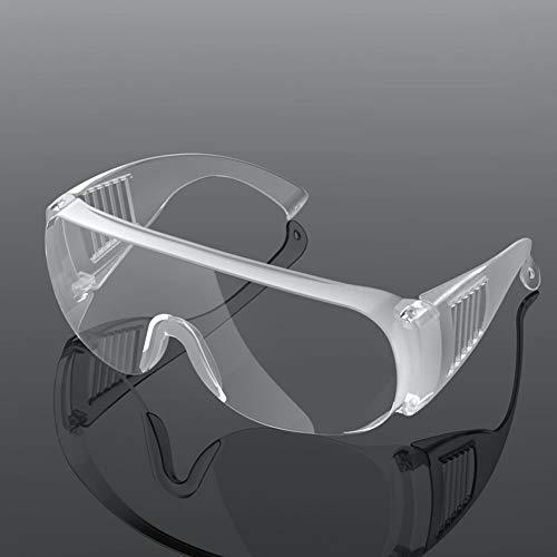 YOFAPA Occhiali Protettivi E Igienici di Sicurezza,Trasparente Classici Occhiali di Protezione Anti-Nebbia, Resistenti Ai Graffi per Lavori in Officina, Anti-graffio